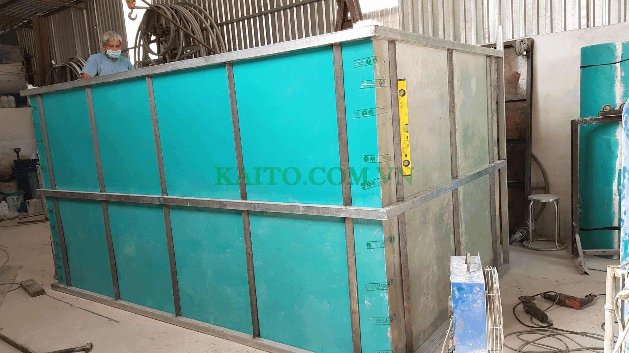 bồn composite nước thải hình hộp