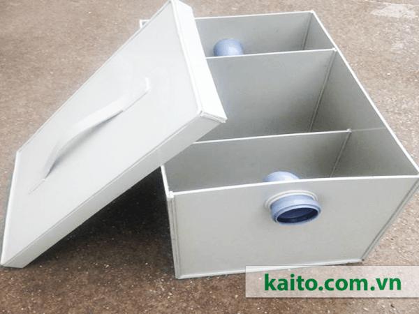 cấu tạo bể tách dầu mỡ sinh hoạt composite