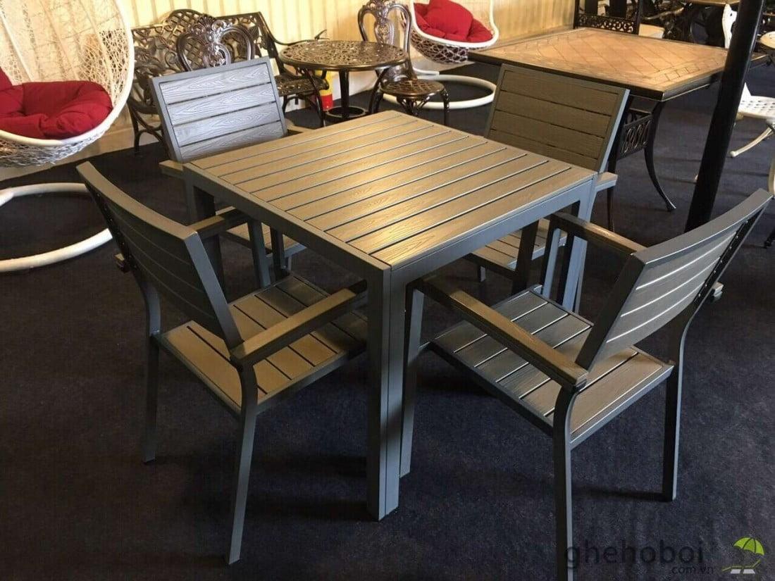 bàn ghế cafe composite giá rẻ