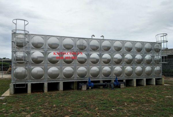 Bồn lắp ghép inox 60 khối tại Hà Nội